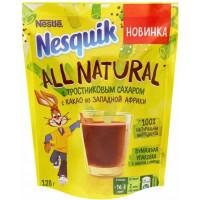 Напиток Несквик шоколадный с тростниковым сахаром 128г пакет