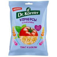 Корнерсы Д.Кернер цельнозерновые чипсы томат базилик 50г