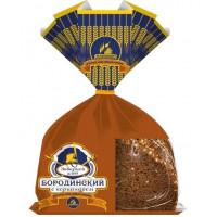 Хлеб Каравай Бородинский заварной с кориандром 340г нарезка