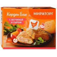 Кордон Блю Мираторг с сыром и ветчиной 405г