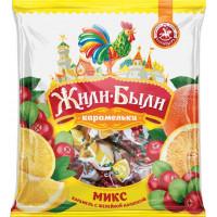 Карамель Жили-были карамельки микс клюква, апельсин, лимон 200г
