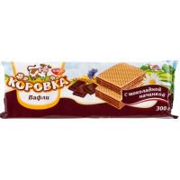 Вафли РотФронт Коровка с шоколадной начинкой 300г
