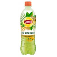 Чай холодный Липтон зеленый по-японски со вкусом имбирь и лемонграсс 0,5л