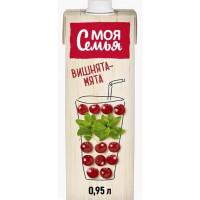 Напиток сокосодержащий Моя Семья Вишня-Мята 950мл