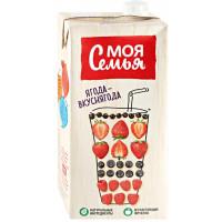 Напиток сокосодержащий Моя Семья Фруктово-ягодный 1,93л