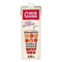 Напиток сокосодержащий Моя Семья Фруктово-ягодный 950мл