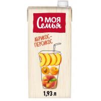 Напиток сокосодержащий Моя Семья Яблоко персик абрикос 1,93л