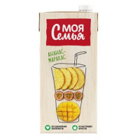 Напиток сокосодержащий Моя Семья Ананас-маракас 1,93л