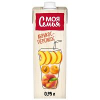 Напиток сокосодержащий Моя Семья Яблоко персик абрикос 0,95л