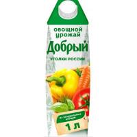 Напиток Добрый овощной урожай 1л