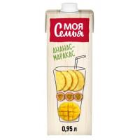 Напиток сокосодержащий Моя Семья Ананас манго маракуйя 950мл