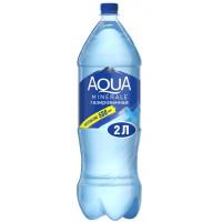 Вода Аква Минерале чистая питьевая газ 2л