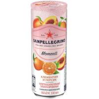 Напиток безалкогольный Санпелегрино клементин и персик газ 0,33мл ж/б