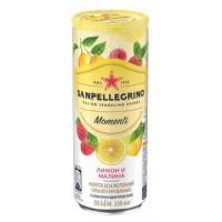 Напиток безалкогольный Санпелегрино лимон и малина газ 0,33мл ж/б