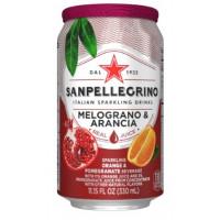 Напиток безалкогольный Санпелегрино гранат/апельсин газ 0,33л ж/б