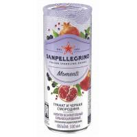 Напиток безалкогольный Санпелегрино гранат и черная смородина газ 0,33л ж/б