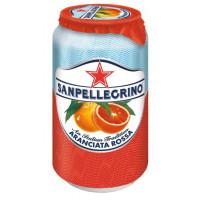Напиток безалкогольный Санпелегрино красный апельсин газ 0,33л ж/б