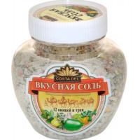 Соль вкусная йодированная 12 овощей и трав 400г