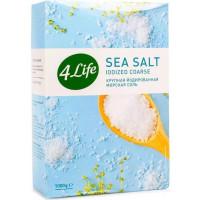 Соль 4Лайф морская йодированная крупная 1000г