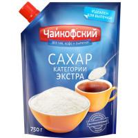 Сахар Чайкофский белый кристаллический категории экстра 750г