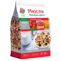 Мюсли Алтайские кранчи запеченные с красными ягодами 350г