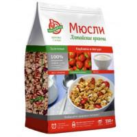 Мюсли Алтайские кранчи запеченные с клубникой и йогуртом 350г