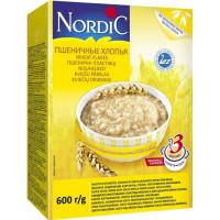 Каша Нордик пшеничные хлопья 600г