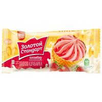 Мороженое Инмарко Золотой стандарт рожок клубника 100г