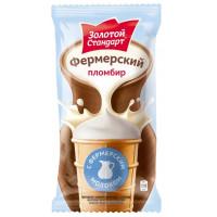 Мороженое Инмарко Золотой стандарт фермерский с топленым молоком 90г ваф ст