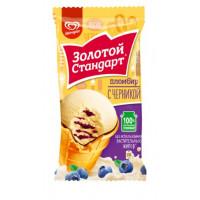 Мороженое Инмарко Золотой стандарт Пломбир с черникой 86г ваф. стакан