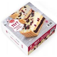 Торт Ритейл Джуниорс Брусничный с белым шоколадом 800г
