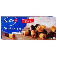 Трубочки вафельные Бальзен в горьком шоколаде 100г