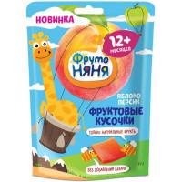 Кусочки Фруто-няня фруктовые яблоко/персик 53г