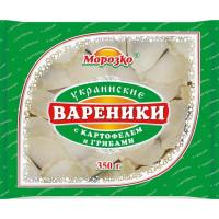 Вареники Морозко украинские с картофелем и грибами 350г