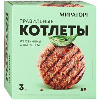 Котлеты Мираторг Правильные из свинины с шалфеем 300г