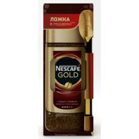Кофе Нескафе Голд растворимый 95г + ложка