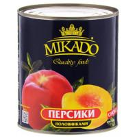 Персики Микадо половинками 425г ж/б
