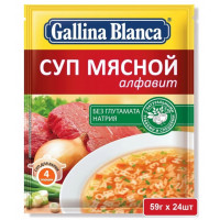 Суп Галина Бланка мясной алфавит 59г