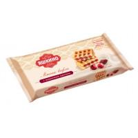 Вафли Яшкино мягкие с вишневым джемом 120г