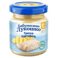 Пюре Бабушкино лукошко картофель с треской 100г