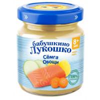 Пюре Бабушкино лукошко семга,овощи с 8мес. 100г
