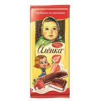 Шоколад Аленка молочный клубника со сливками 87г