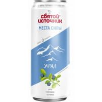 Вода Святой источник Урал голубика-ирга-черника газ. 0,33л ж/б