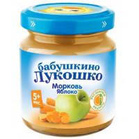 Пюре Бабушкино лукошко морковь, яблоко с 5мес. 100г