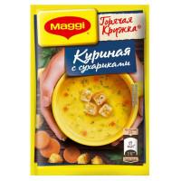 Суп Магги Горячая кружка куриный с сухариками 19г