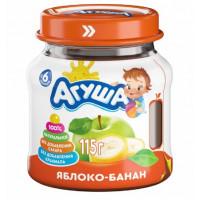 Пюре Агуша яблоко и банан с 6мес. 115г