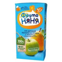 Сок Фруто-няня яблоко+груша с мякотью детский 0,2л