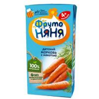 Сок Фруто-няня морковь с мякотью детский 200мл