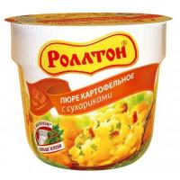 Пюре картофельное Роллтон с сухариками 40г