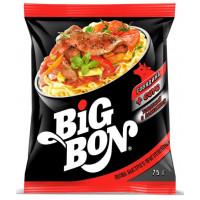Лапша Биг бон говядина+соус томатный с базиликом 75г